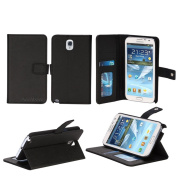AceAbove Samsung Galaxy Note 3 Case - Wallet Case with Protective & Stand Case for Galaxy Note III [Black]