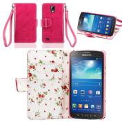 IZENGATE Samsung Galaxy S4 Active I9295 Elegant Floral Skin Premium PU Leather Wallet Flip Case Cover Folio Stand