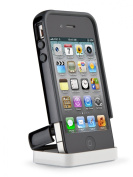 Speck Products CandyShell Flip Case for iPhone 4/4S - 1 Pack - Carrying Case - Retail Packaging - Black/Dark Grey