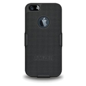 Amzer Shellster Shell Holster Combo Case Cover for Apple iPhone 5, iPhone 5S (Fits All Carriers) - Black