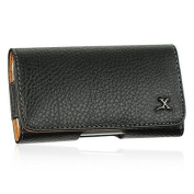 Black Horizontal Leather Case w/ Belt Clip for HTC Droid Incredible + Screen Protector