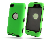 Deluxe 2N1 Hybrid Rubber Hard Case Cover Skin For IPOD TOUCH 4 4G 4TH GEN