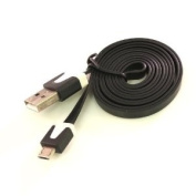 JM Int'L-Black 1M/3ft Noodle Narrow Micro USB Flat Data Cable for for for for for for for for for for Samsung Galaxy S3 i9300 Note 2, Acer Allegro,Blackberry Torch 9860/ 9810/ 9800, Sony Xperia S/ P/ U/ Xperia Tipo/ GoXE/XL,LG Optimus L3 N