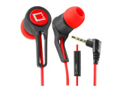 Cellet 3.5mm Stereo Hands-Free Earbuds - Black/Red
