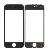 ePartSolution-iPhone 5 Front Glass Outer Lens Touch Screen Cover With Frame Bezel (Black) Replacement Part USA Seller