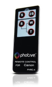 Photive RC-4 Wireless Remote Control For Canon EOS Rebel T3i, T2i, T1i, XT, XTI, 60D, 7D