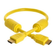 0.5m Yellow High Speed HDMI Cable Version 1.3 Category 2 - 1080p - PS3 - Blu-Ray - XBox360