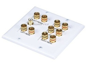 Monoprice 2-Gang 5.1 Surround Sound Distribution Wall Plate