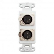 PcConnectTM Decora Wall Plate Insert, Dual XLR Female, Solder Type, White