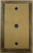Deco Step Style Antique Brass Single Gang Cable TV Wall Plate