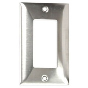 HUBBELL WIRING DEVICE-KELLEMS SS26 Plate,Wall,1 Gang,Silver