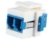 Networx Fibre Optic Keystone Coupler - LC to LC Singlemode Duplex - White
