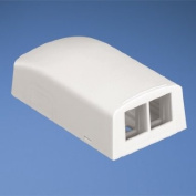 Panduit NK2BXIW-A 2-Port Surface Mounting Box for LD3/LD5, Off White
