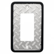 Brainerd 135860 Diamond Plate Single Decorator Wall Plate / Switch Plate / Cover