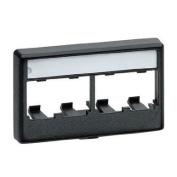 Panduit CFFPL4BL Snap-On 4-Port Modular Furniture Faceplate, Black