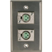 Rapco Horizon SP-2DFS Single Gang Stainless Steel Wall Plate 2) Switchcraft D3F