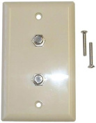 Black Point Products BV-071 Ivory Dual Coax Wall Plate, Ivory