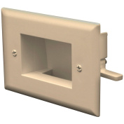 DATACOMM ELECTRONICS 45-0008-LA EASY-MOUNT RECESSED LOW-VOLTAGE CABLE PLATE