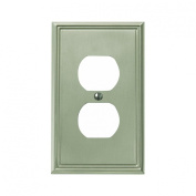Jackson Deerfield 3108BN Metro Line Brushed Duplex Outlet Wall Plate, Nickel Finish
