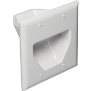 Datacomm Electronics 45-0002-Wh White 2 Gang Recessed
