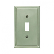 Jackson Deerfield 3101BN Metro Line Brushed Single Toggle Wall Plate, Nickel Finish