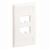 Panduit CFPL4IWY 1-Gang 4-Port Faceplate, Off White