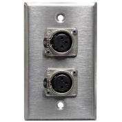 Rapco Horizon SP-2DFN Single Gang Stainless Steel Wall Plate 2) Neutrik NC3FD