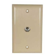 SF Cable, Coaxial F Coupler Wall Plate Ivory