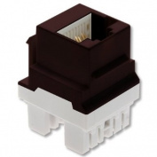 On-Q / Legrand WP3458-BR Cat 5e Keyed RJ45 Keystone Connector, Brown