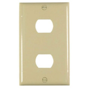 Pass & Seymour K2I Plastic Despard Opening Wall Plate Two Horizontal Opening Per Gang Includes Mounting Straps