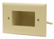 DataComm 45-0009-LA Easy Mount Recessed Low Voltage Cable Plate