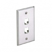 Panduit CFP2SY 1-Gang 2-Port Faceplate, 304 Stainless Steel