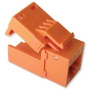 Platinum Tools EZ-SnapJack Connector, Cat6 (Single), Orange
