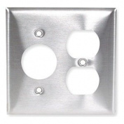 Plate, Wall, 2 Gang, Silver