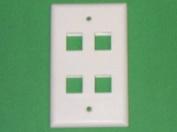 R.J. Enterprises 2013A-C4 Network Keystone Face Plate 4 Port