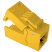 Platinum Tools EZ-SnapJack Connector, Cat5e (Single), Yellow