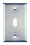 Allen Tel Products ATBK9 Single Gang, 1 Port, For 1 DB9 Connector Data Stainless Steel Wall Plates