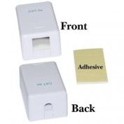 PcConnectTM Single Blank Surface Mount Box for Keystone, White