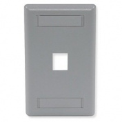 Wall Plate, 1 Port