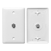 Video Wall Plate and Jack, F Type, White