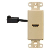 Video Wall Plate and Jack, HDMI, Ivory