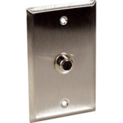 1-Gang Stainless Steel Wall Plate with 1 S-Video 4-Pin Barrel-by-TecNec