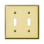 Jackson Deerfield 9BS102 Steel Double Toggle Wall Plate , Brass Finish