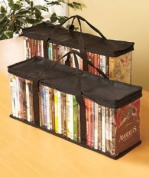 DVD STORAGE organiser- This Classic Set Of 2 Storage Bags Have Room For 40 Dvd 's Each For A Total Of 80 Of Your Favourite Dvd's