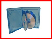 15mm Viva Elite Hold 4 Discs Blu-ray Replacement Case 5 Pack
