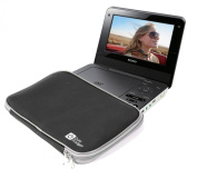 DURAGADGET Black Durable & Lightweight Portable DVD Player Carry Sleeve For Sony DVP-FX970, DVP-FX720