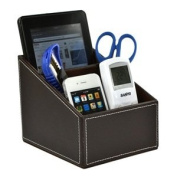 Cosmos Brown PU Leather Remote control/controller TV Guide/mail/CD organiser/caddy/holder with Free Cosmos Cable Tie