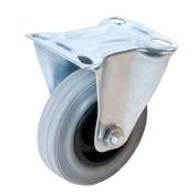 FIXMAN Rubber Castor Fixed 125mm 100kg