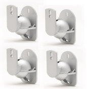 TechSol Essential TSS1-S - 4 Pack of Silver Universal Speaker Wall Mount Brackets