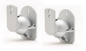 TechSol Essential TSS1-S - 2 Pack of Silver Universal Speaker Wall Mount Brackets